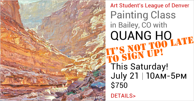 Quang Ho Paint-Out in Bailey, Colorado, Saturday, July 21, 10am-5pm, $750, Sign Up Now!