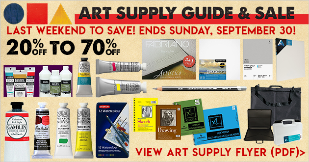 Art Supply Guide & Sale thru September 30, 2018