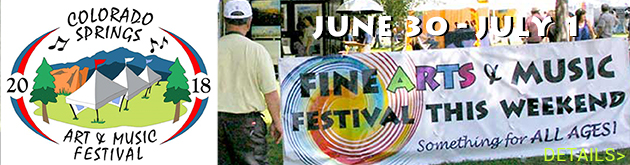 Colorado Springs Art & Music Festival, June 30-July 1, America the Beautiful Park