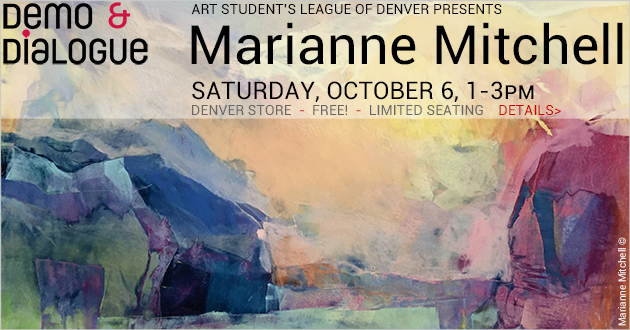 Demo & Dialogue with Marianne Mitchell, Saturday, October 6, 1-3pm, FREE! Denver Store only