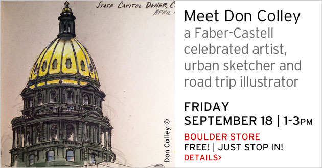 Meet Don Colley, Boulder store, September 18, 1-3, just stop in