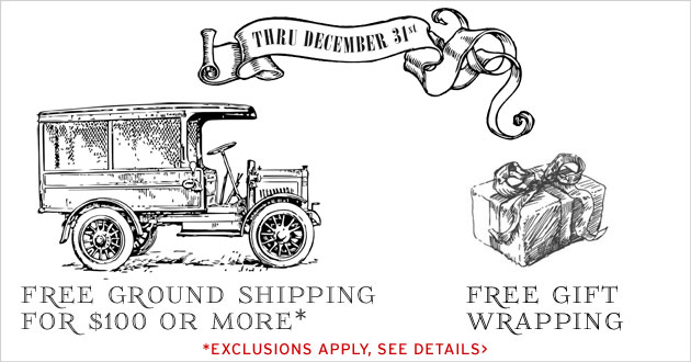 Free Shipping & Gift Wrapping, see details