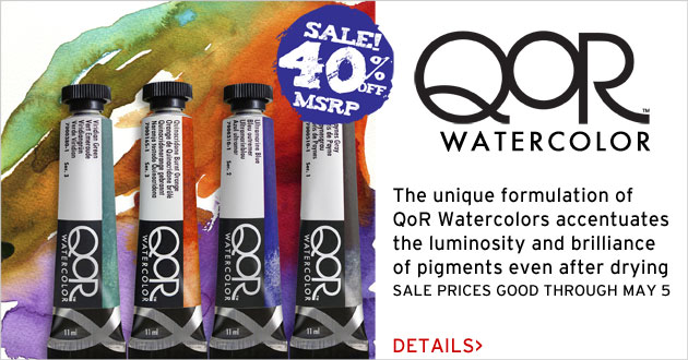 QoR Watercolor on Sale for 40% OFF MSRP through May 5, 2017