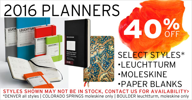 40% OFF 2016 Planners: select styles