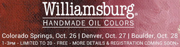 Williamsburg Oils: Colorado Springs store, October 26, 1-3pm; Denver store, October 27, 1-3pm; Boulder store, October 28, 1-3pm, more info and sign-up coming soon!