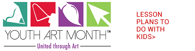 March is Youth Art Month, use these lesson plans to do art